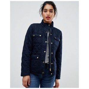 J. Crew Mercantile Navy Blue Quilted Field Jacket